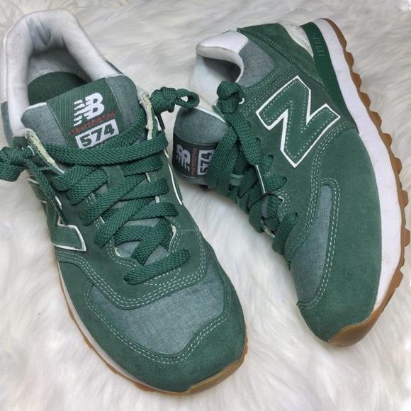 New Balance 574 Sage Green retro sneakers